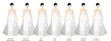 different wedding dress shapes how the most common wedding dress shapes look on the 7 most common