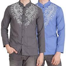 baju koko jfashion baju koko pria tangan panjang printing yusuf print