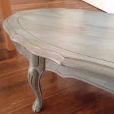 Blue Table Painting by French Provincial Coffee Table Painted Blue Grey Chalk Paint