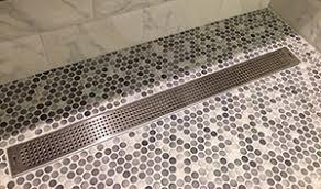 pattern grate linear shower drain