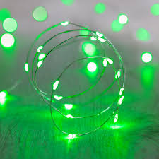String Lights Uk by 20 Green Led Micro Battery Fairy Lights Lights4fun Co Uk