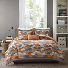 Childrens Bedroom Bedding Sets Modern Boys Camo Army Camouflage Blue Brown Grey Navy Comforter