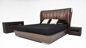King Bed Temptation Caesar Italian Classical Design Leather Platform King Bed