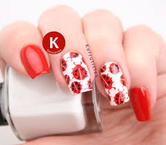ladybird nails 40 great nail art ideas kerruticles