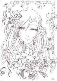 my fairy sketch version by art of kawaii on deviantart