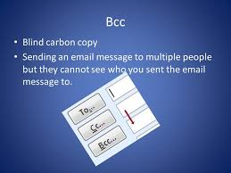 How Does Blind Carbon Copy Work Electronic Communication Presentation Attachments Files You
