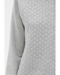 forever 21 heathered braid quilted raglan sweatshirt where to
