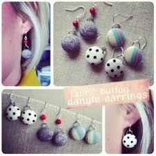 make dangle earrings how to make diy fabric button dangle earrings diy tag