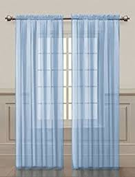 Light Blue And Curtains 2 Solid Sky Blue Sheer Window Curtains Drape