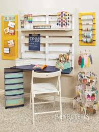pallet work station in a craft room love this pins i love