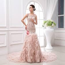 custom made wedding dress custom made blush colored illusion dropped waist luxury wedding
