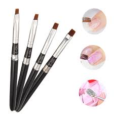 flat nail art brush pen diy design acrylic uv gel french painting