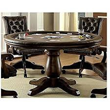Dining Room Poker Table Amazon Com Rustic Solid Wood Game Table With Hideaway Top Poker