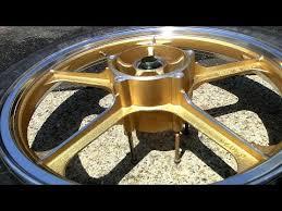 how to paint motorcycle wheels u0026 polish rims youtube