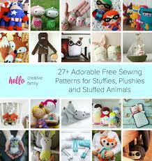 27 adorable free sewing patterns for stuffies plushies stuffed