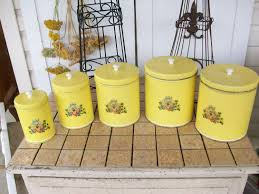 28 yellow canister sets kitchen vintage set of 3 yellow