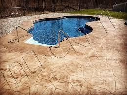 stamped concrete pool deck anthony u0027s story nucrete