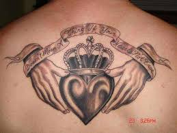 claddagh tattoo the rings is a irish heritage symbol for love and