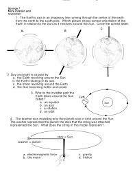 solar system worksheet 2