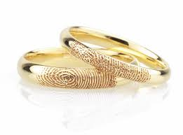 rings wedding fingerprint wedding rings unique wedding rings in 5 easy steps