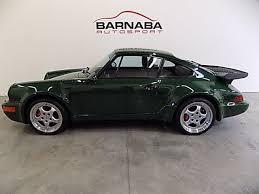 porsche 911 turbo 1994 1994 porsche 911 turbo turbo 3 6 50126 green pts flat