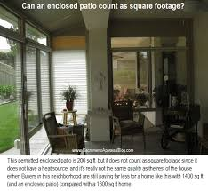 does an enclosed patio count in the square footage sacramento