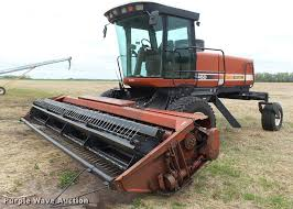 hesston 8450 self propelled windrower item da2231 sold