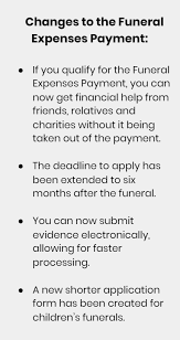 funeral expenses update to funeral expenses payment will make claims easier beyond