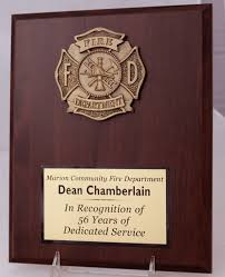 retirement plaques firefighter plaque appreciation and recognition