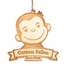 the official pbs shop curious george curious kid wood ornament