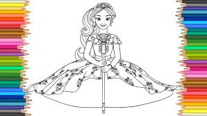 disney princess elena of avalor coloring pages to color for kids l