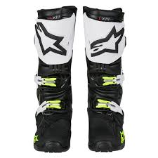 alpinestar motocross gear alpinestars mx boots tech 10 black white 2018 maciag offroad