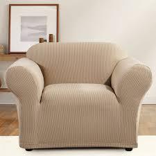 Armchair Cushion Sure Fit Simple Stripe Box Cushion Armchair Slipcover U0026 Reviews
