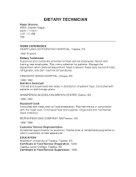sample cover letter dietary aide professional resumes example online