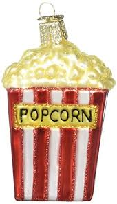 world popcorn glass blown ornament home