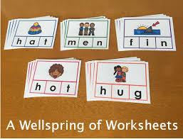 cvc word clip cards consonant vowel consonant short vowel sound