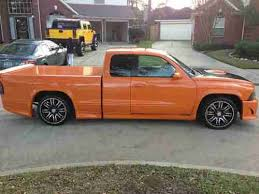 dodge dakota custom wheels purchase used 2004 dodga dakota sport custom wheels orange