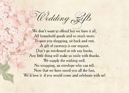 wedding gift list poems vintage flower gift wish card from 0 40 each