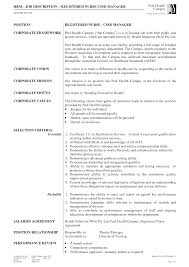 Sample Business Resume Hiring Registered Nurse Job Description Sample