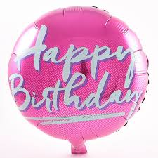 birthday helium balloons happy birthday pink foil helium balloon card factory