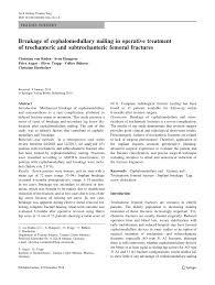 breakage of cephalomedullary nailing in operative treatment of
