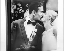 Engraved Wedding Albums Custom Wedding Album Etsy