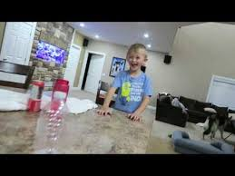 Romanatwoodvlogs Water Challenge Attempts To Do A Water Bottle Flip