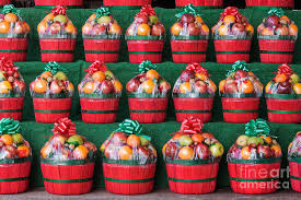 christmas fruit baskets christmas fruit baskets on shelves photograph by woodhouse