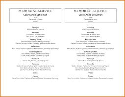 Funeral Program Maker 7 Funeral Program Sample Itinerary Template Sample