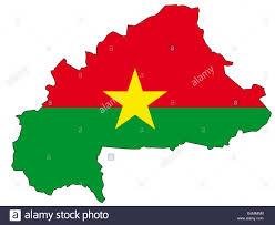 Multicoloured Flag Burkina Faso Flag Outline Stock Photo Royalty Free Image