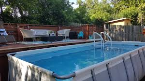 rectangular intex pool deep end