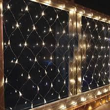 battery timer indoor outdoor net mesh curtain led light