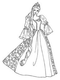 princess coloring page barbie for kidsfree coloring pages for kids