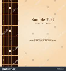 guitar fretboard card design sle layout stock vector 142611052